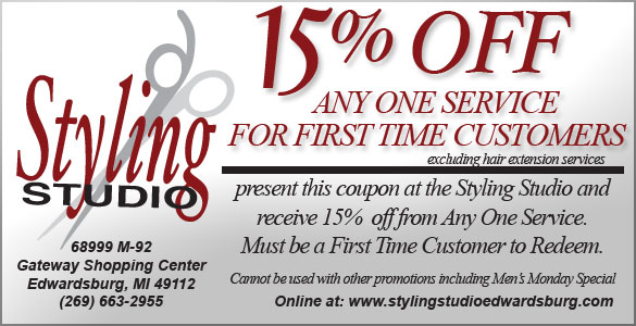 Print this coupon and present at the styling studio for a special offer